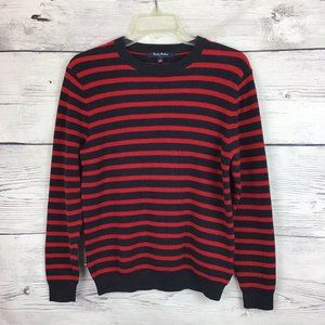 Brooks Brothers Sweater Large Striped Red Blue Men